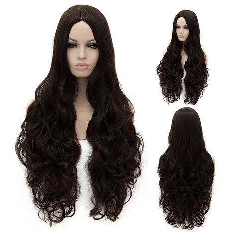 Amazing Long Dark Brown Female Wavy Hairstyle 32 Inch : fairywigs.com | Synthetic Hair Wigs | Scoop.it