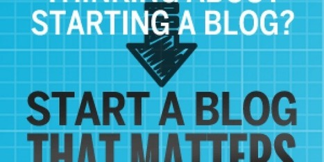 How To Start A Blog That Matters Review By Corbett Barr | Entertainment | Scoop.it