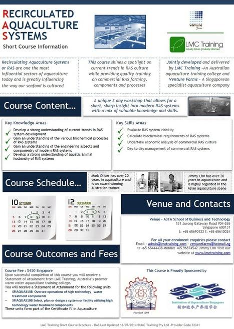 Singapore Course – Recirculating Aquaculture Systems 8-9th Oct 2014 | LMC Training | Aquaculture Training | Aquaculture Courses | Aqua-tnet | Scoop.it