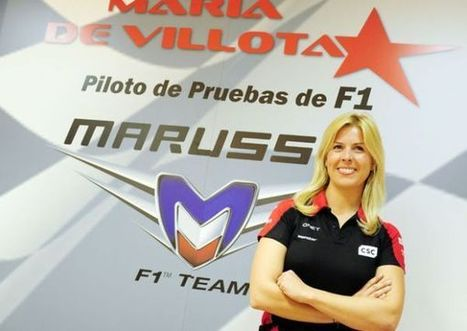 María de Villota y su papel dentro de Marussia | 2012 año del accidente de María de Villota | Scoop.it