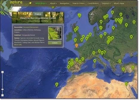 écouter les sons de la nature via une carte du monde | HG Sempai | Scoop.it