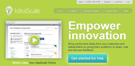 IdeaScale. Generateur collaboratif d'idees. | Time to Learn | Scoop.it