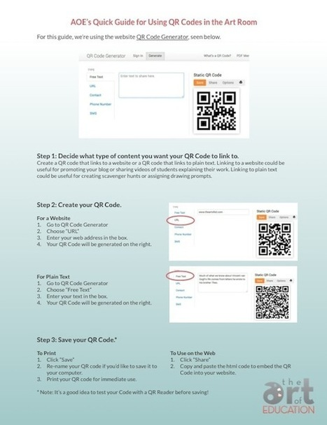The Ultimate Guide to Using QR Codes in the Art Room | The Art of ... | QR Code Art | Scoop.it