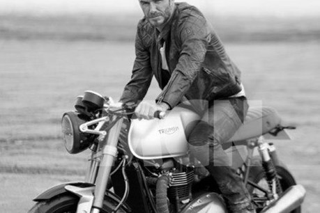 David Beckham and the 2016 1100cc Triumph Bonneville – MCN   Motorcycle news from around the web   Scoop.it