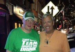 Rex Ryan poses with NY Jets fan who was wearing shirt that says 'this team makes me drink'  | MORONS MAKING THE NEWS | Scoop.it