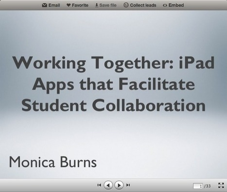 Working Together: iPad Apps that Facilitate Student Collaboration | Educational Technology - Yeshiva Edition | Scoop.it