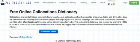 Free Online Collocations Dictionary | L2 Vocabulary Teaching & Learning | Scoop.it