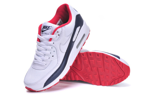 Nike Air Max 90 Womens White Navy Blue W537384-116 Cheap for Sale | fashion | Scoop.it