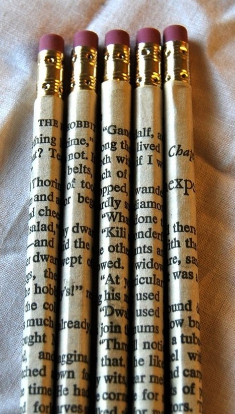 Favorite Book Pencil Wraps. This could be nice paired along with a journal craft of some sort or back to school craft program. Tween library craft. - Home Decoras | The Slothful Cybrarian | Scoop.it