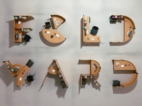 Fold Yard by Benoit Challand: Large-scale typography turns into functional furniture | Communication design | Scoop.it