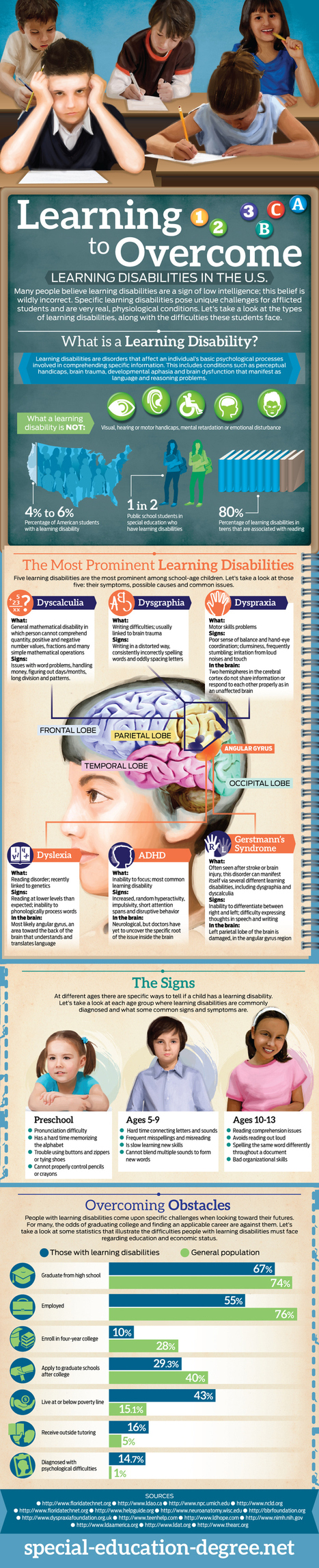 Infographic :- Learning Disabilities - Infographics King | Students with dyslexia & ADHD in independent and public schools | Scoop.it
