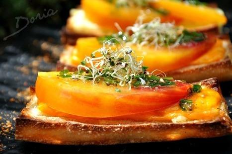Tartines à la tomate ancienne et Mimolette | The Voice of Cheese | Scoop.it