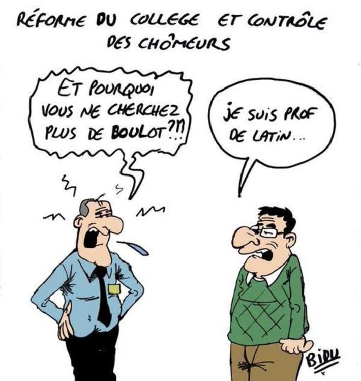 Réforme du collège et contrôle des chômeurs | Baie d'humour | Scoop.it