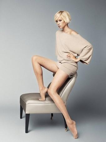 Strumpbyxor med trendigt prickmönster Veronica 12 DEN | strumpbyxor boutique | Scoop.it