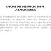 EFECTOS DEL DESEMPLEO SOBRE LA SALUD MENTAL | Psicología Social y del Trabajo | Scoop.it
