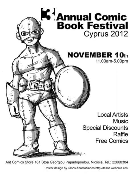 Comic Book Festival στις 10 Νοεμβρίου στη Λευκωσία   University of Nicosia Library   Scoop.it