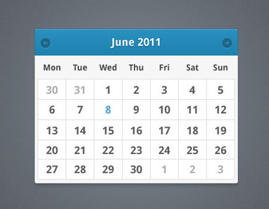 30 Beautiful Free PSD Calendar Templates for your Artworks | Magento | Scoop.it