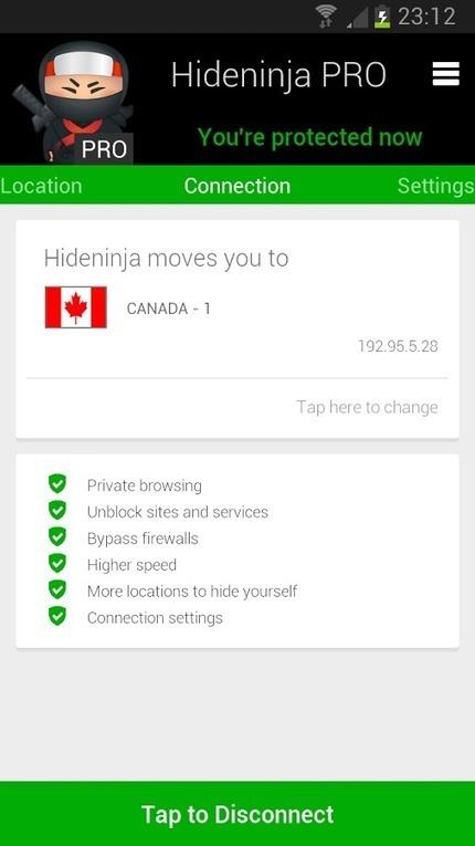 Hideninja VPN PRO v1.0 | ApkLife-Android Apps Games Themes | andriod | Scoop.it