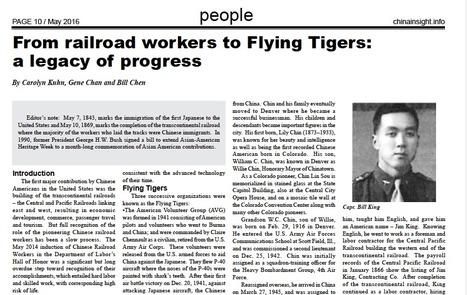 One Family's Ties with railroad work and Flying Tigers | Chinese American Now | Scoop.it