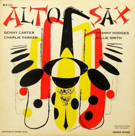 Phases Phrases Photos — Alto Sax David Stone Martin Illustration 1955 | Jazz Plus | Scoop.it