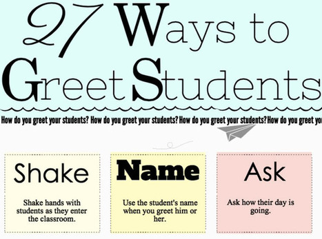 27 creative ways to greet your elementary school students | Education | Scoop.it