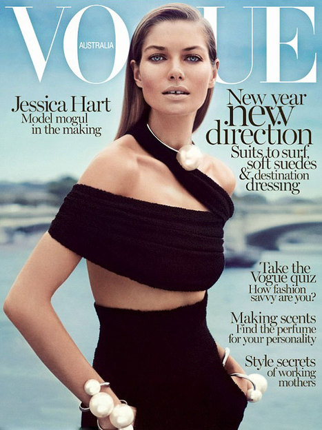 Jessica Hart on the cover of Vogue Australia | Fashion Trends | Scoop.it