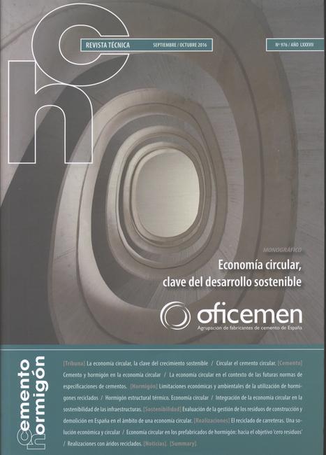 Cemento-Hormigón, Año LXXXVII, nº 976 (2016)   Ingeniería Civil   Scoop.it