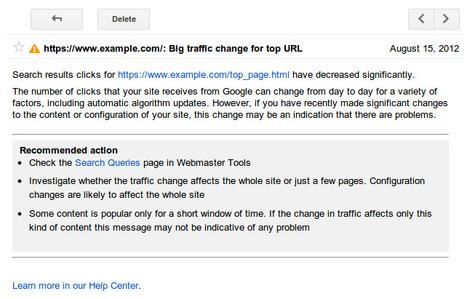 Webmaster Tools : Recevez des alertes email en cas de comportement inhabituel de vos sites sur les pages de recherche de Google | Time to Learn | Scoop.it