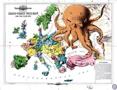 An 1877 social-satirical map of Europe. Complement... | Digital  Humanities Tool Box | Scoop.it