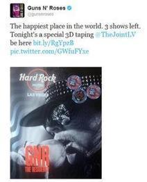 Guns N' Roses Gets Filmed in 3D | 3D and Technology | Scoop.it