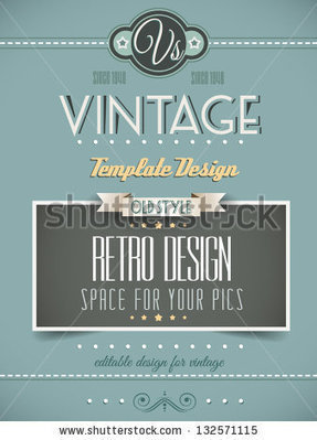 Vintage Retro Page Template For A Variety Of Purposes: Website Home Page, Old Style Flyers, Book Covers Or Vintage Posters. Stock Vector 132571115 : Shutterstock | Design | Scoop.it