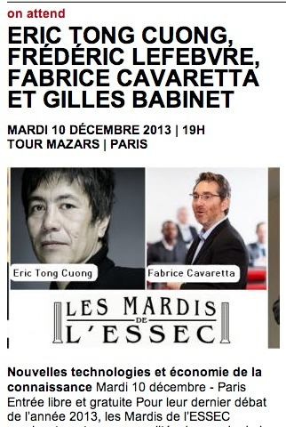 Les Mardis de l'ESSEC | Com, pub, etc... | Scoop.it