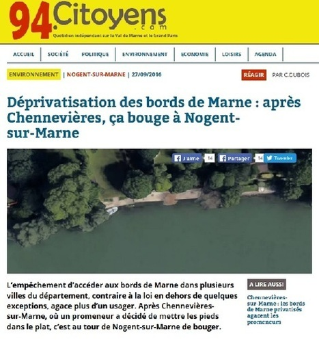 Déprivatisation des bords de Marne | Charentonneau | Scoop.it
