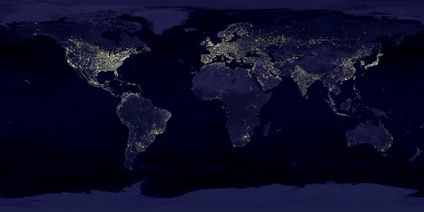 Earth's City Lights | If the world were a village - global thoughts for global education | Scoop.it