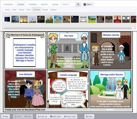 """Storyboard That"" Online Creator 