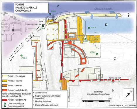 Location of cores around the Castellum Aquae   Archaeology of Portus   Scoop.it