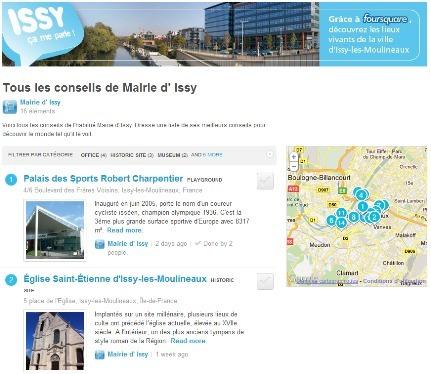 Issy-les-Moulineaux débarque sur Foursquare | toute l'info sur Foursquare | Scoop.it