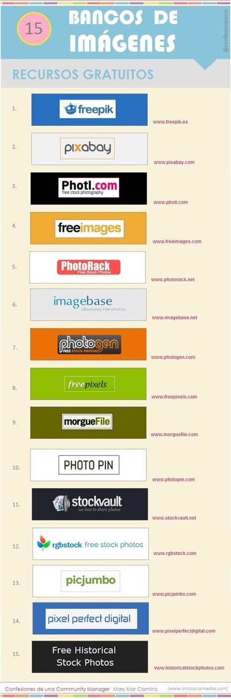 15 sitios de descargas gratuitas de imágenes #infografia #infographic #design | WEB 3.0 | Scoop.it