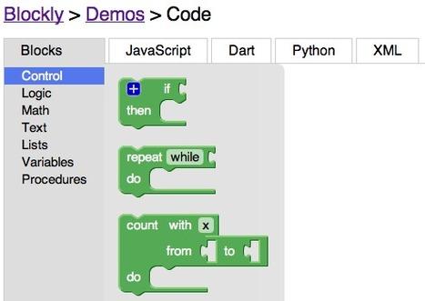 Blockly : Google simplifie la programmation web | Time to Learn | Scoop.it
