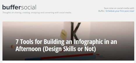 7 Tools for Building an Infographic in an Afternoon (Design Skills or Not) | Infographics in het onderwijs | Scoop.it
