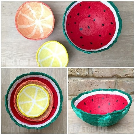 Papier Mache Summer Fruit Bowls - Red Ted Art's Blog | Great Gift Ideas | Scoop.it