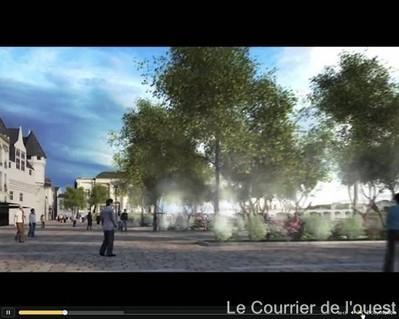 Saumur. La future place de la République à découvrir en 3D | Infographie 3D | Scoop.it