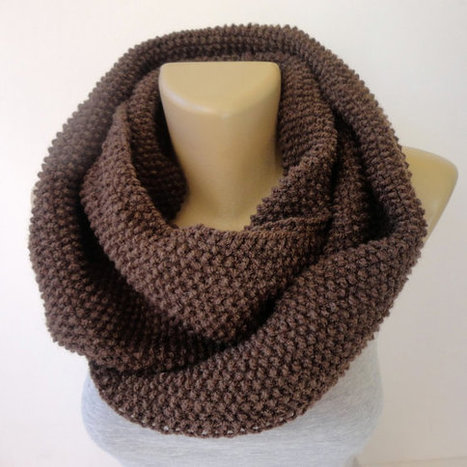 brown infinity scarf , unisex scarf ,winter accessories ,scarf trends ,cowl ,eternity . acrylic yarn | Winter Fashions | Scoop.it