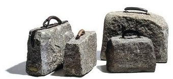 Luiz Philippe Carneiro de Mendonça: Stone Suitcases | Art Installations, Sculpture, Contemporary Art | Scoop.it
