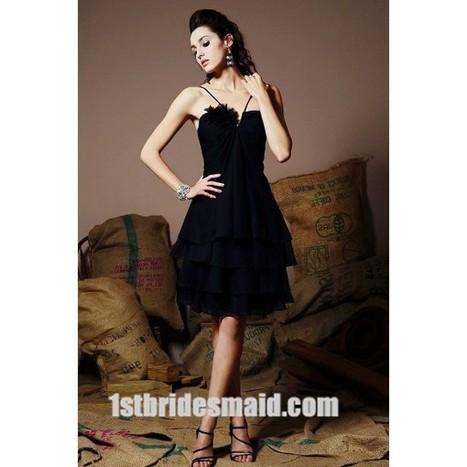 A-line Knee-length Chiffon Ruched Bridesmaid Dress(BD0428)   dressmebridal   Scoop.it