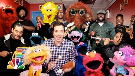 "Jimmy Fallon, Sesame Street & The Roots Sing ""Sesame Street"" Theme (w/ Classroom Instruments) 