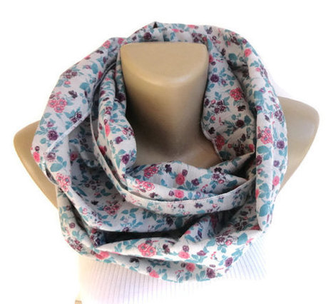 soft cotton floral scarf  ,women infinity scarf ,floral print scarve scarf ,spring Summer fasion circle scarves | Winter Fashions | Scoop.it