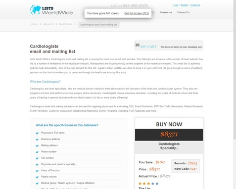 Targeted Cardiologist Email Lists from ListsWorldWide   ListsWorldWide   Scoop.it