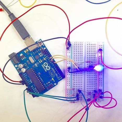 "Haya Barlas on Instagram: ""Arduino fun at @themaklab. Those LEDs be flashing �� @arduinoorg"" 