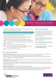 """[INVITATION]: Smarter Learning Symposium: """"Assessing academic ... 